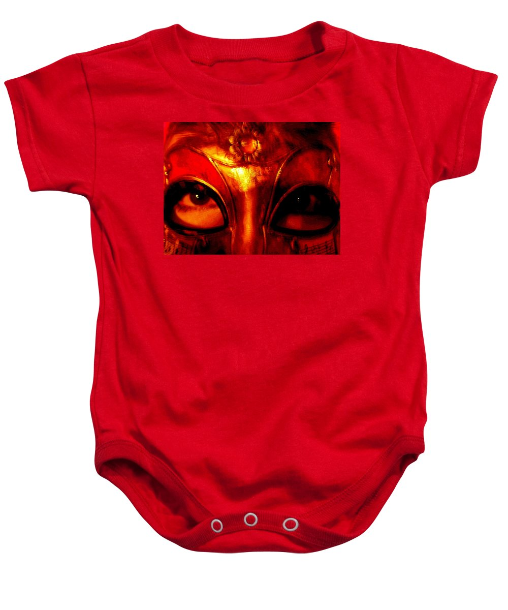 Self-portrait Baby Onesie featuring the photograph Eyes Behind The Mask by April Patterson