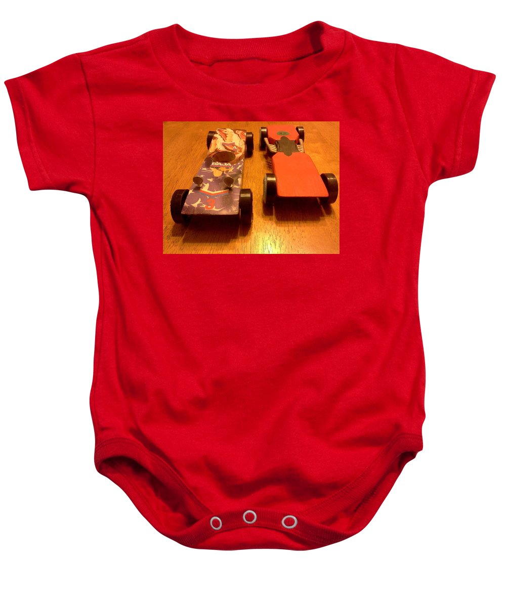 Transportation Baby Onesie featuring the photograph Finish Line by Stacy C Bottoms