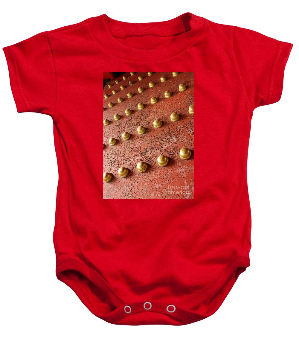 Door Baby Onesie featuring the photograph Forbidden City Door by Carol Groenen