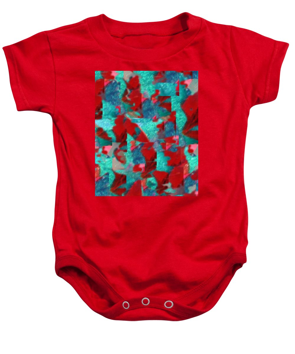 Non Duality Baby Onesie featuring the digital art Fractured Memories by Paula Andrea Pyle