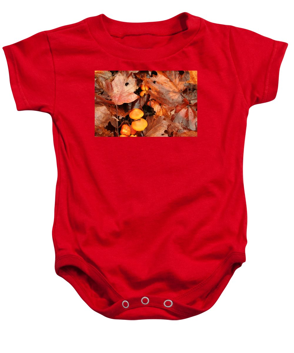 Baby Onesie featuring the photograph Fungus by Joi Electa