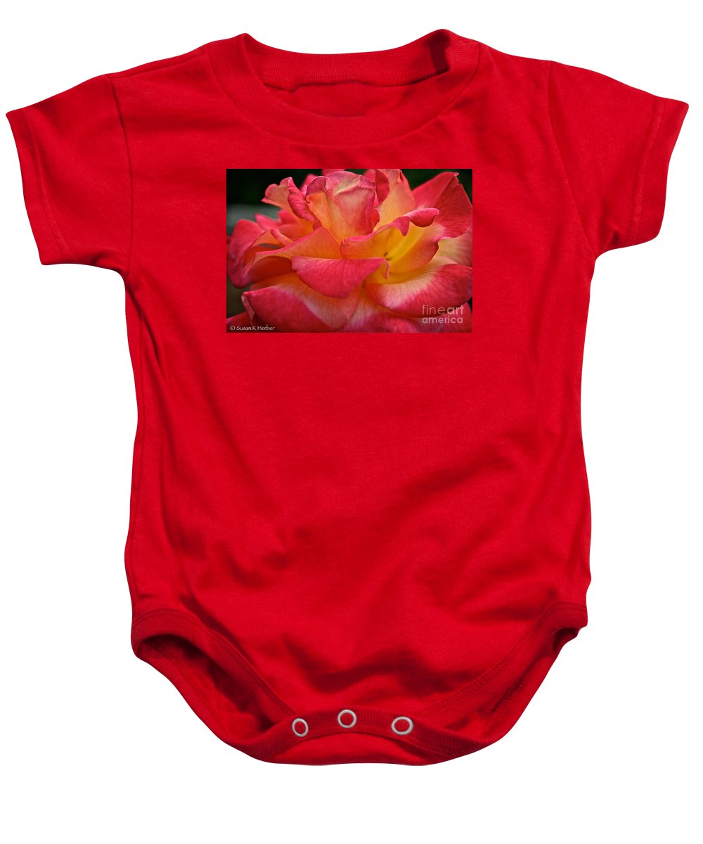 Garden Baby Onesie featuring the photograph Glowing by Susan Herber