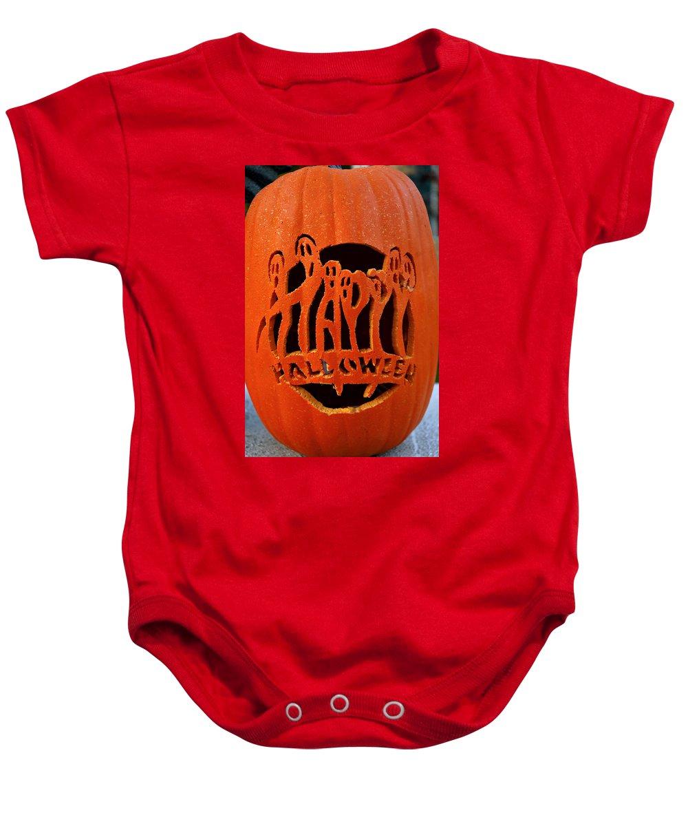 Usa Baby Onesie featuring the photograph Happy Halloween by LeeAnn McLaneGoetz McLaneGoetzStudioLLCcom