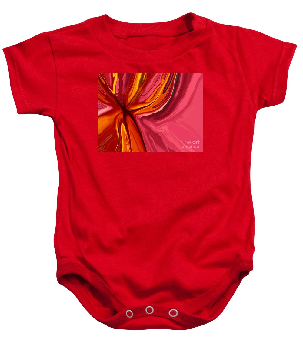 Abstract Baby Onesie featuring the digital art Heartache by Chris Butler