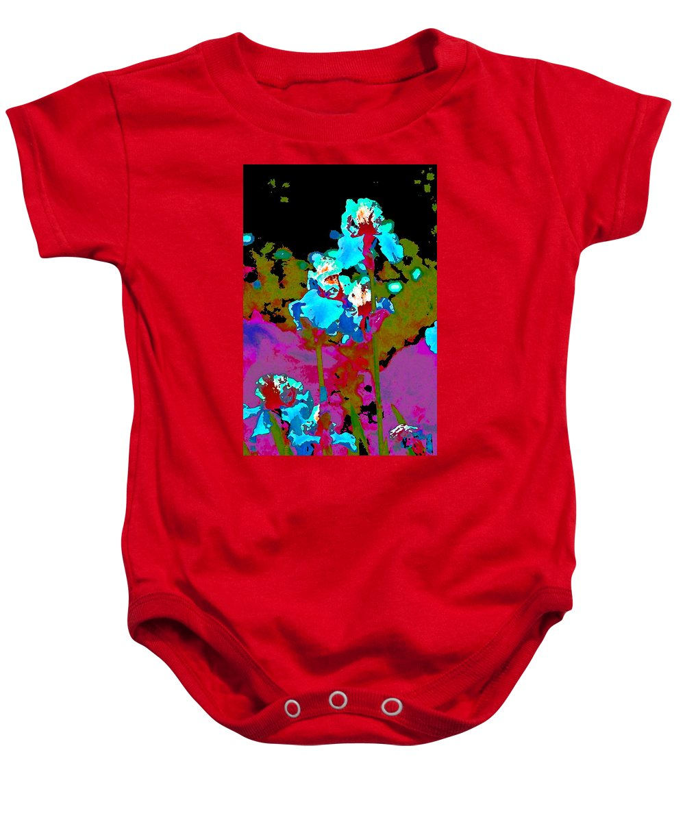 Floral Baby Onesie featuring the photograph Iris 49 by Pamela Cooper
