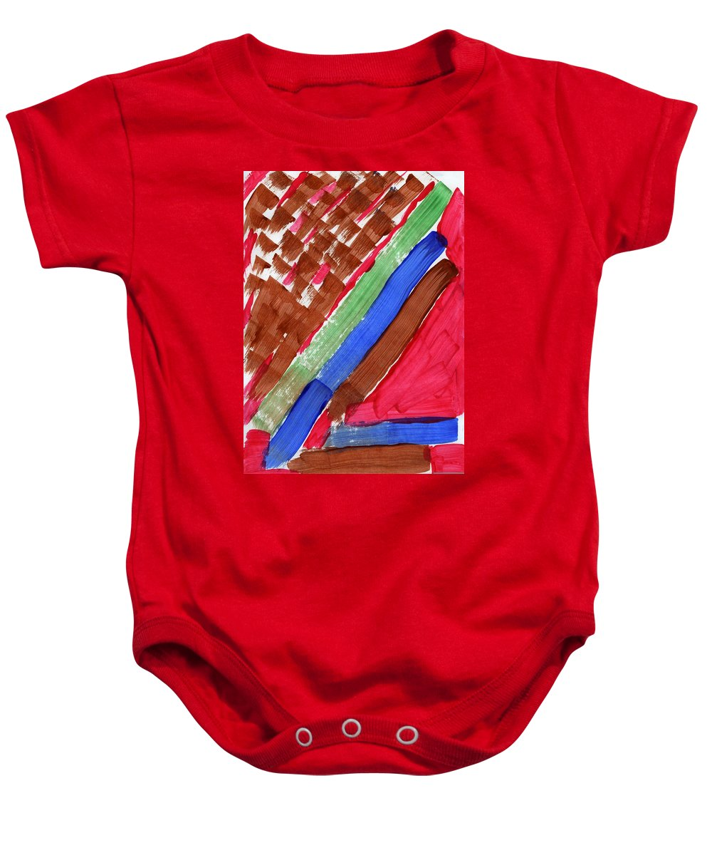 Merciless Force Baby Onesie featuring the painting Merciless Force by Taylor Webb