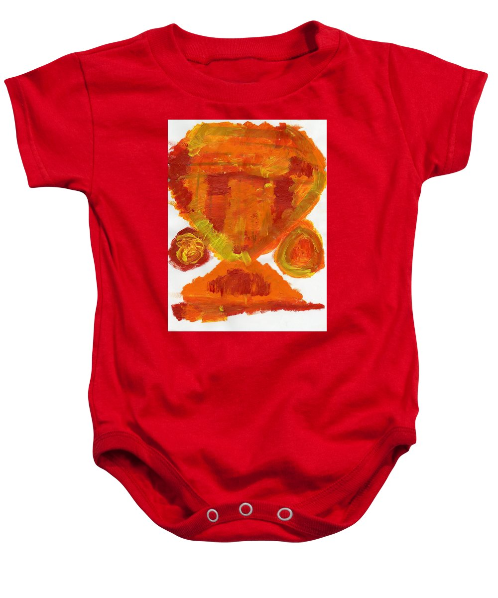 Nameless Input Baby Onesie featuring the painting Nameless Input by Taylor Webb