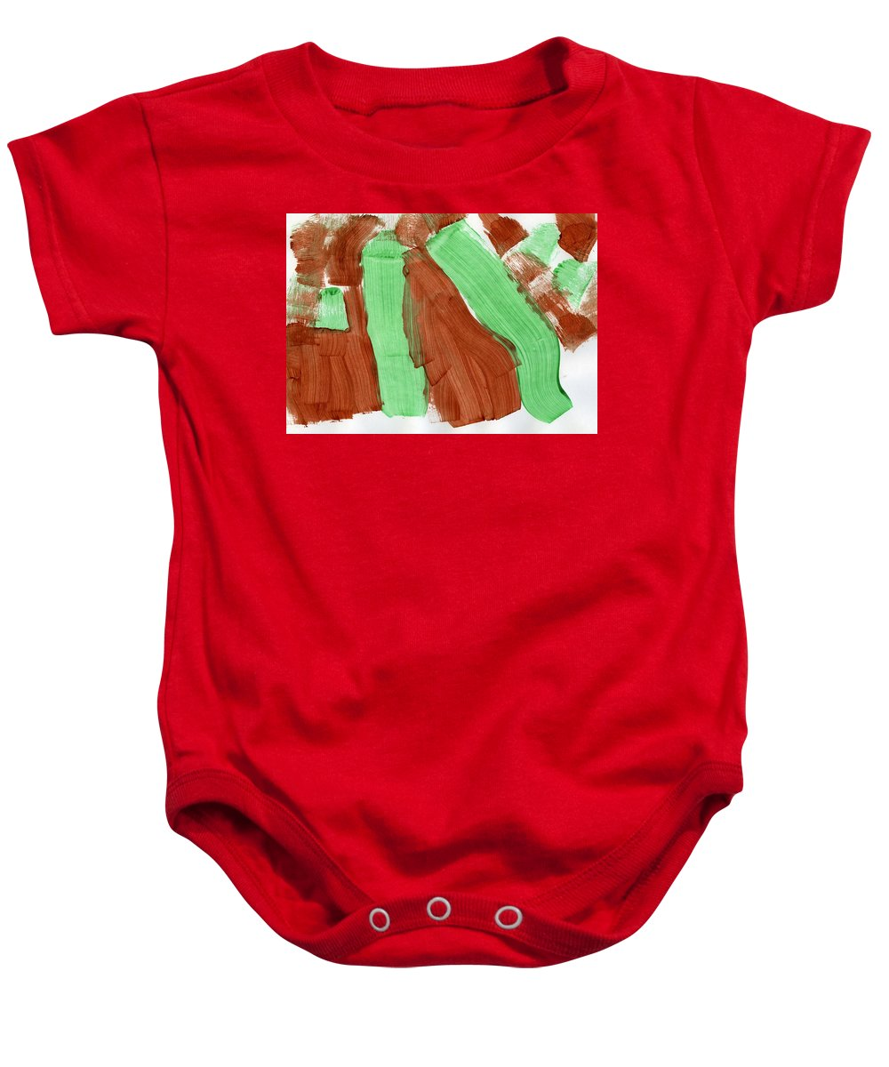 Natural Pastures Baby Onesie featuring the painting Natural Pastures by Taylor Webb