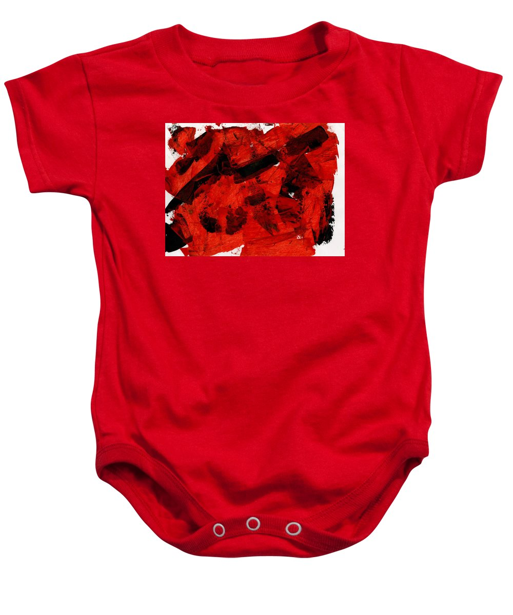Nuclear Anialation Baby Onesie featuring the painting Nuclear Anialation by Taylor Webb