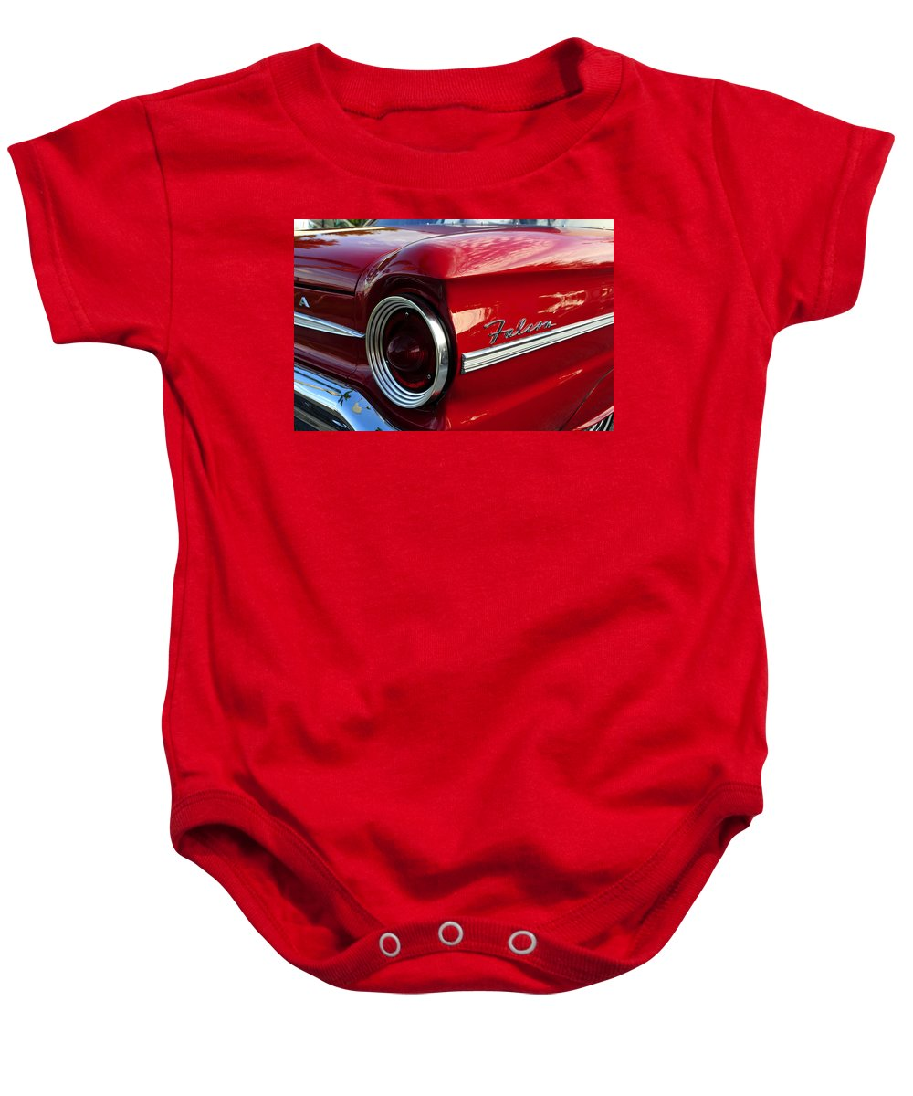 Fine Art Photography Baby Onesie featuring the photograph Red Falcon by David Lee Thompson