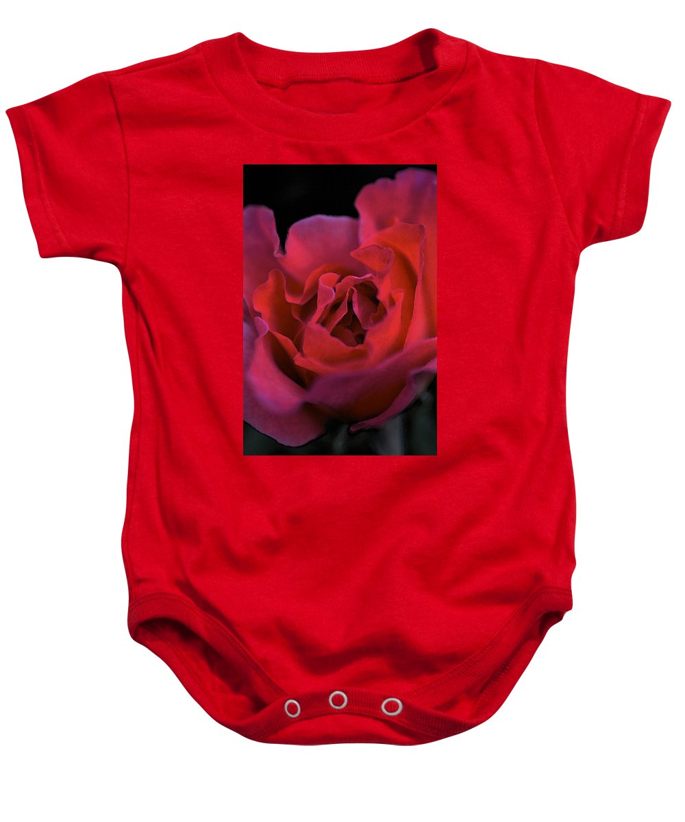 Floral Baby Onesie featuring the photograph Rose 157 by Pamela Cooper