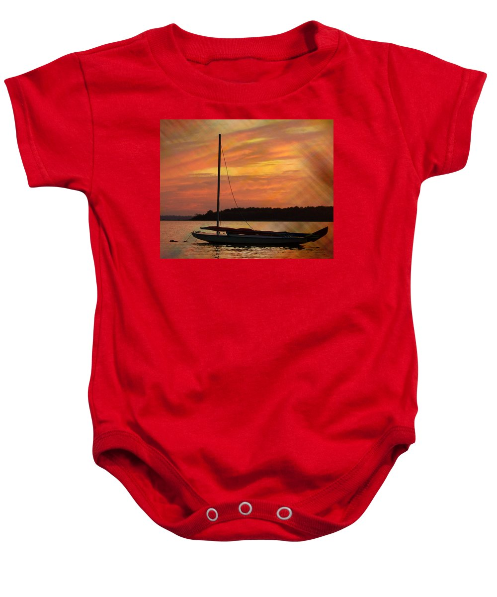 Sailboat Baby Onesie featuring the photograph Sailin' On Dewey by Trish Tritz