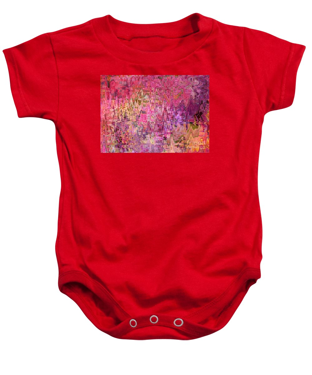 Colorful Abstract Baby Onesie featuring the digital art Shades Of Summer by Carol Groenen