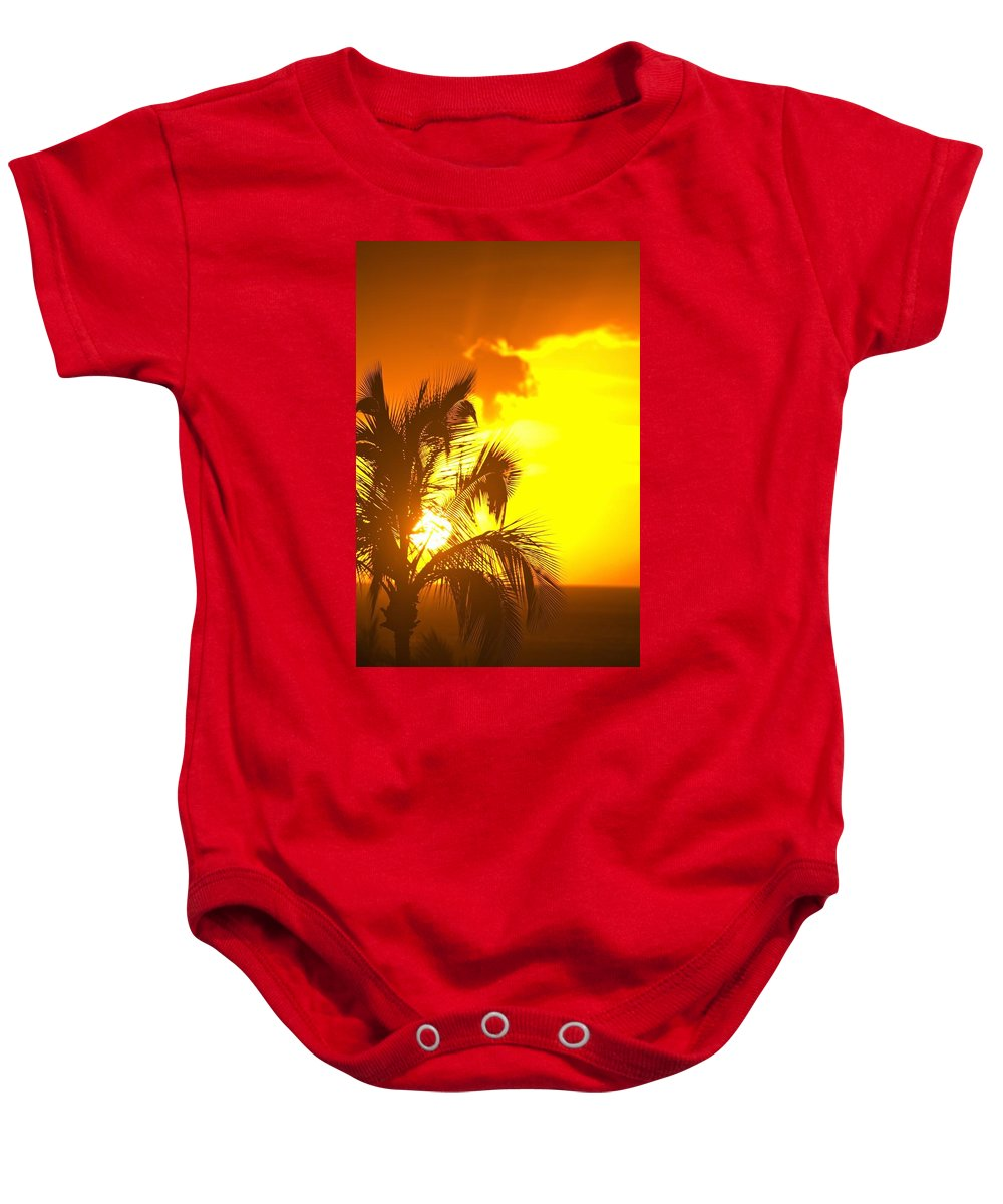 American Baby Onesie featuring the photograph Sunset, Wailea, Maui, Hawaii, Usa by Stuart Westmorland