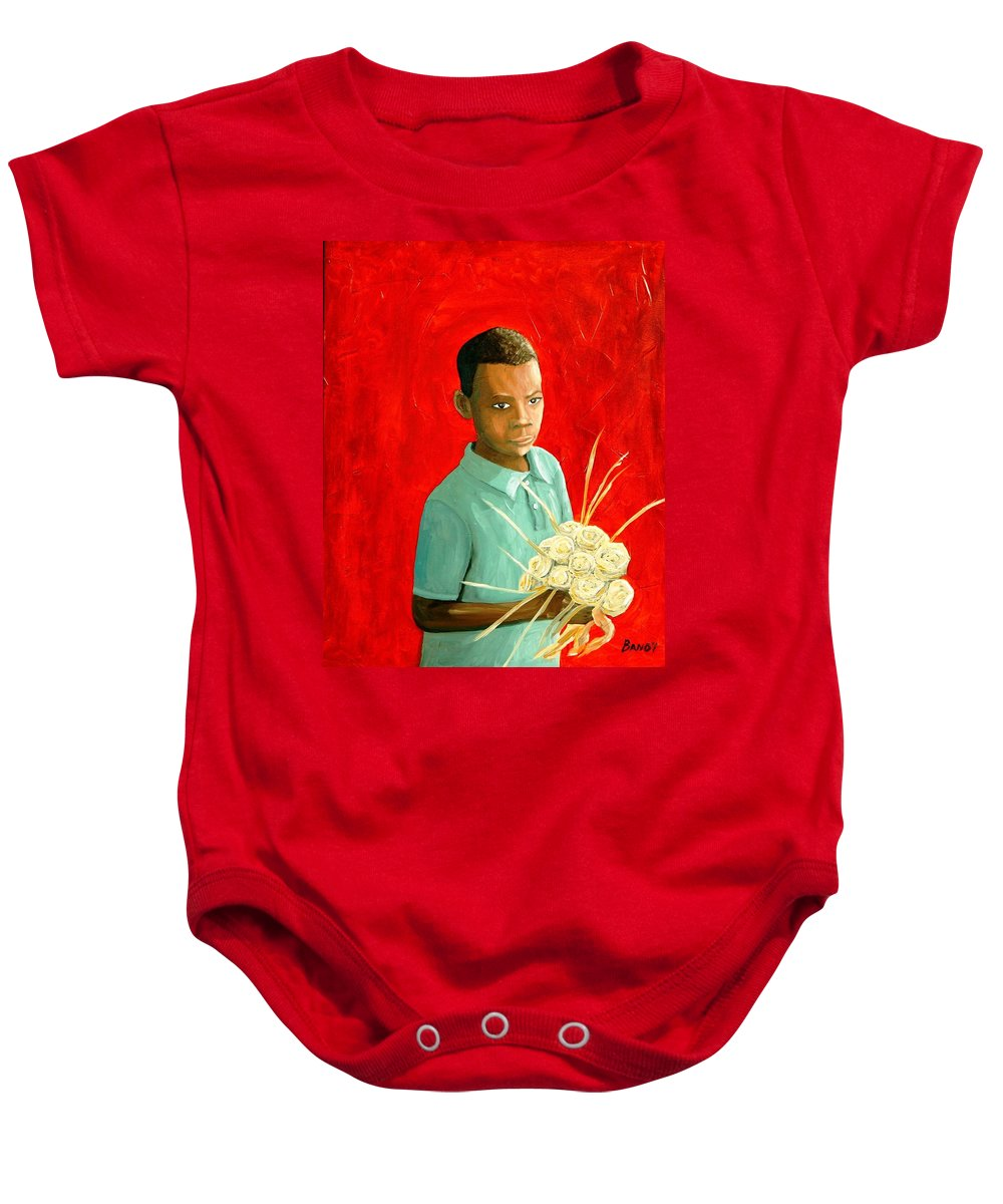 Charleston South Carolina Baby Onesie featuring the painting Sweet Grass Flowers by Todd Bandy