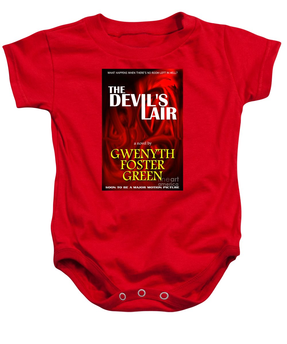 A Mock Book Cover Baby Onesie featuring the photograph The Devil's Lair Book Cover by Mike Nellums