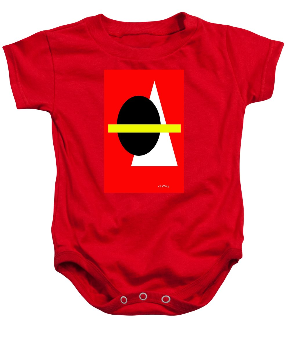 Post Constructivism/geometric Digital Drawings Baby Onesie featuring the photograph Untitled Ch 6 by Doug Duffey