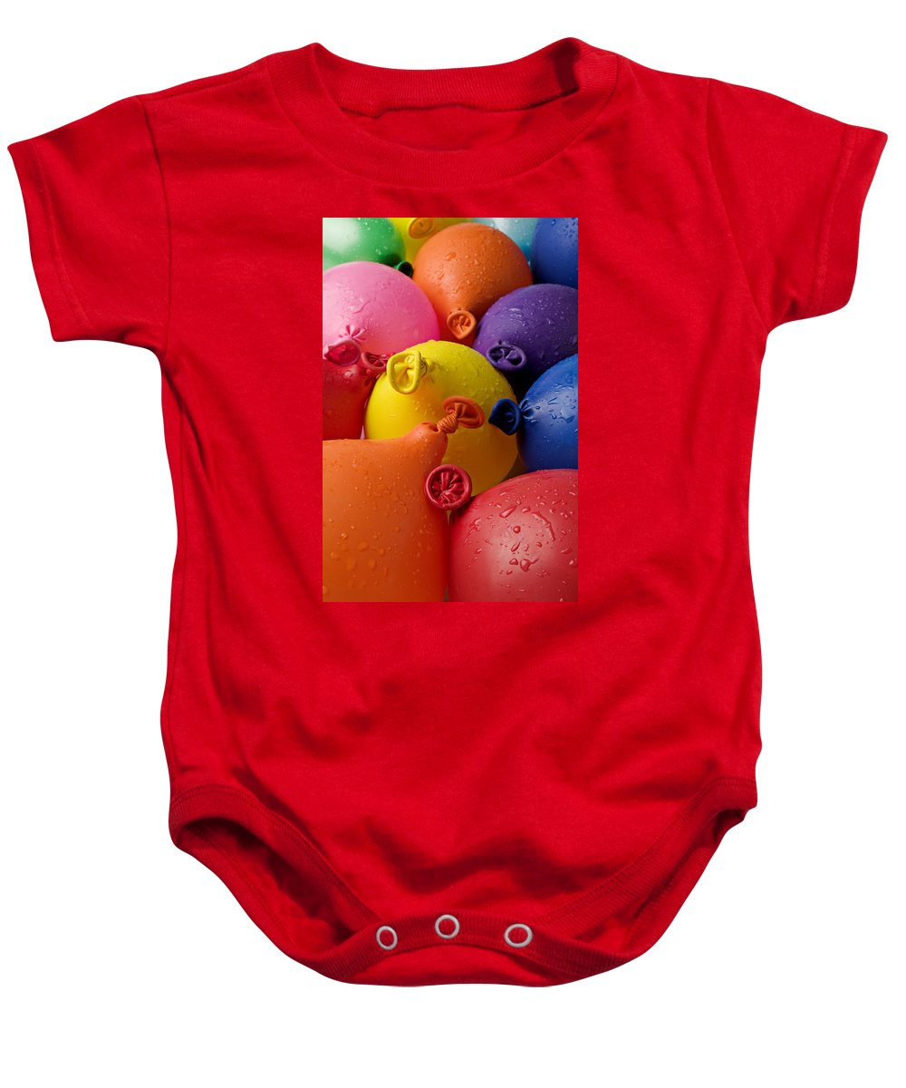 Balloon Baby Onesie featuring the photograph Water Balloons by Garry Gay