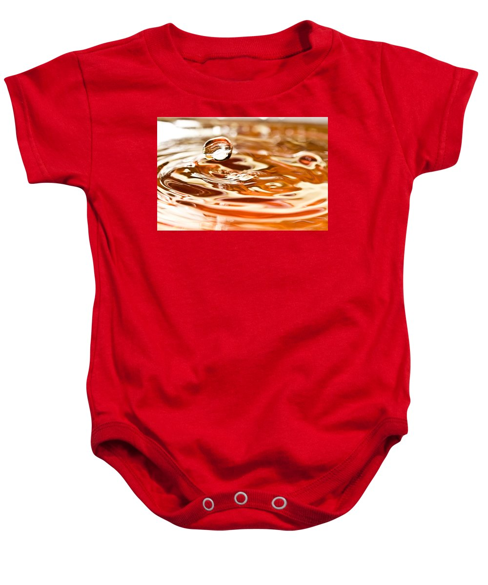 Water Baby Onesie featuring the photograph Waterdrop8 by Danielle Silveira