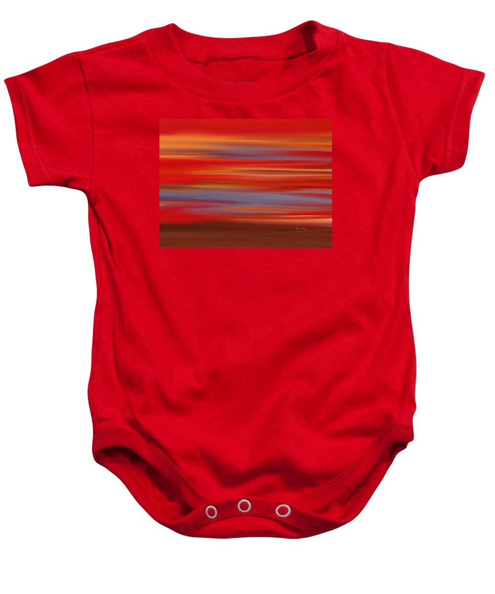 Abstract Baby Onesie featuring the digital art Evening In Ottawa Valley by Rabi Khan