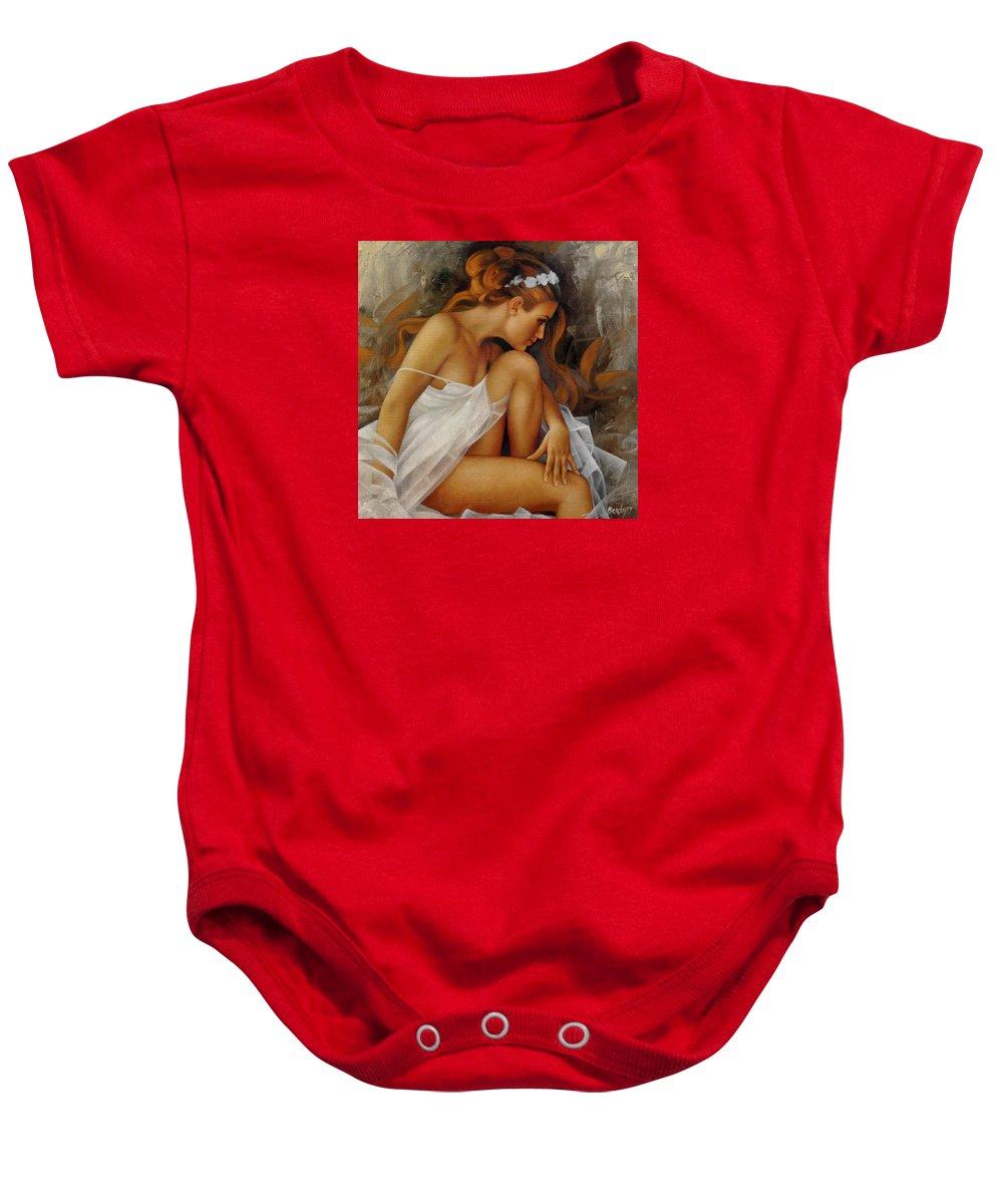 Erotic Baby Onesie featuring the painting Ballerina by Arthur Braginsky