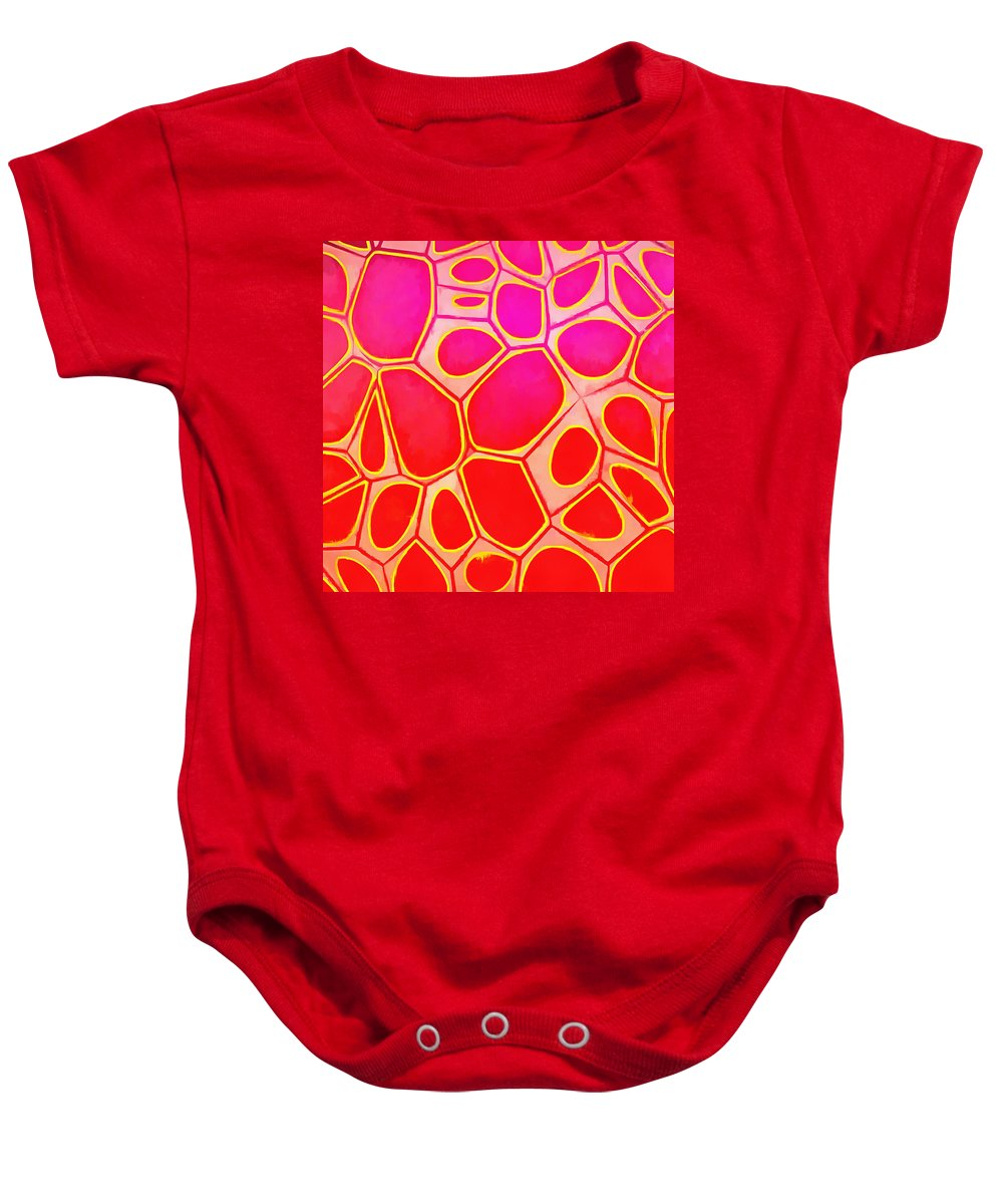 Painting Baby Onesie featuring the painting Cells Abstract Three by Edward Fielding