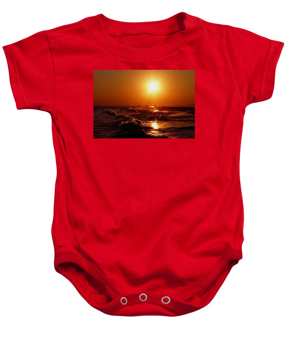 Sunset Baby Onesie featuring the photograph Extreme Blazing Sun by Kendall Eutemey