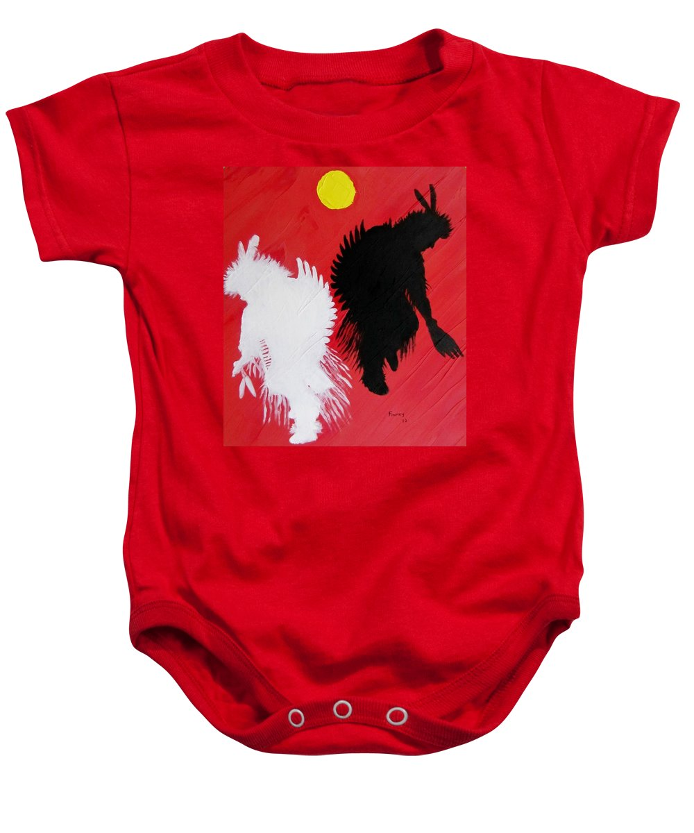 Harvest Dance Baby Onesie featuring the painting Harvest Dance by Michael TMAD Finney