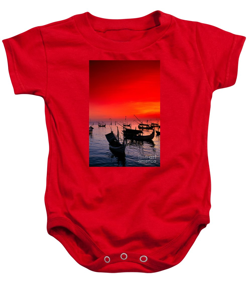 Anchor Baby Onesie featuring the photograph Indonesia, Bali by Gloria & Richard Maschmeyer - Printscapes
