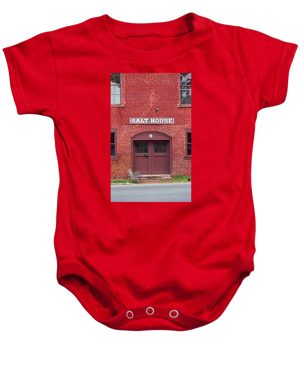 America Baby Onesie featuring the photograph Jonesborough Tennessee - Salt House by Frank Romeo
