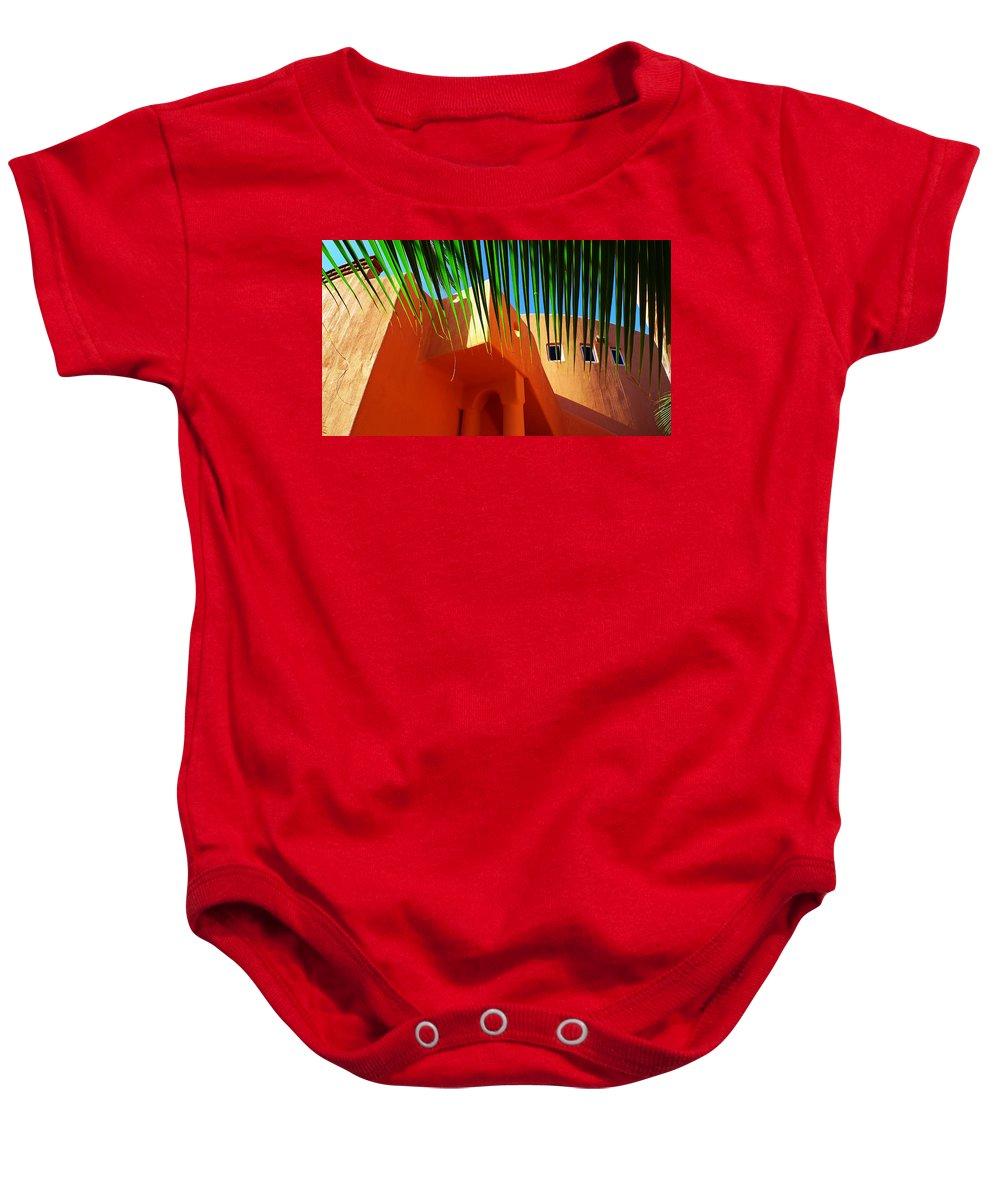 Orange Crush Baby Onesie featuring the photograph Orange Crush by Skip Hunt