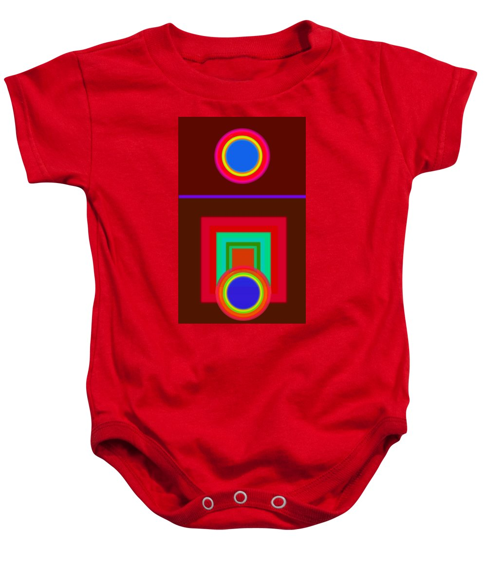 Classical Baby Onesie featuring the digital art Some Like It Hot by Charles Stuart