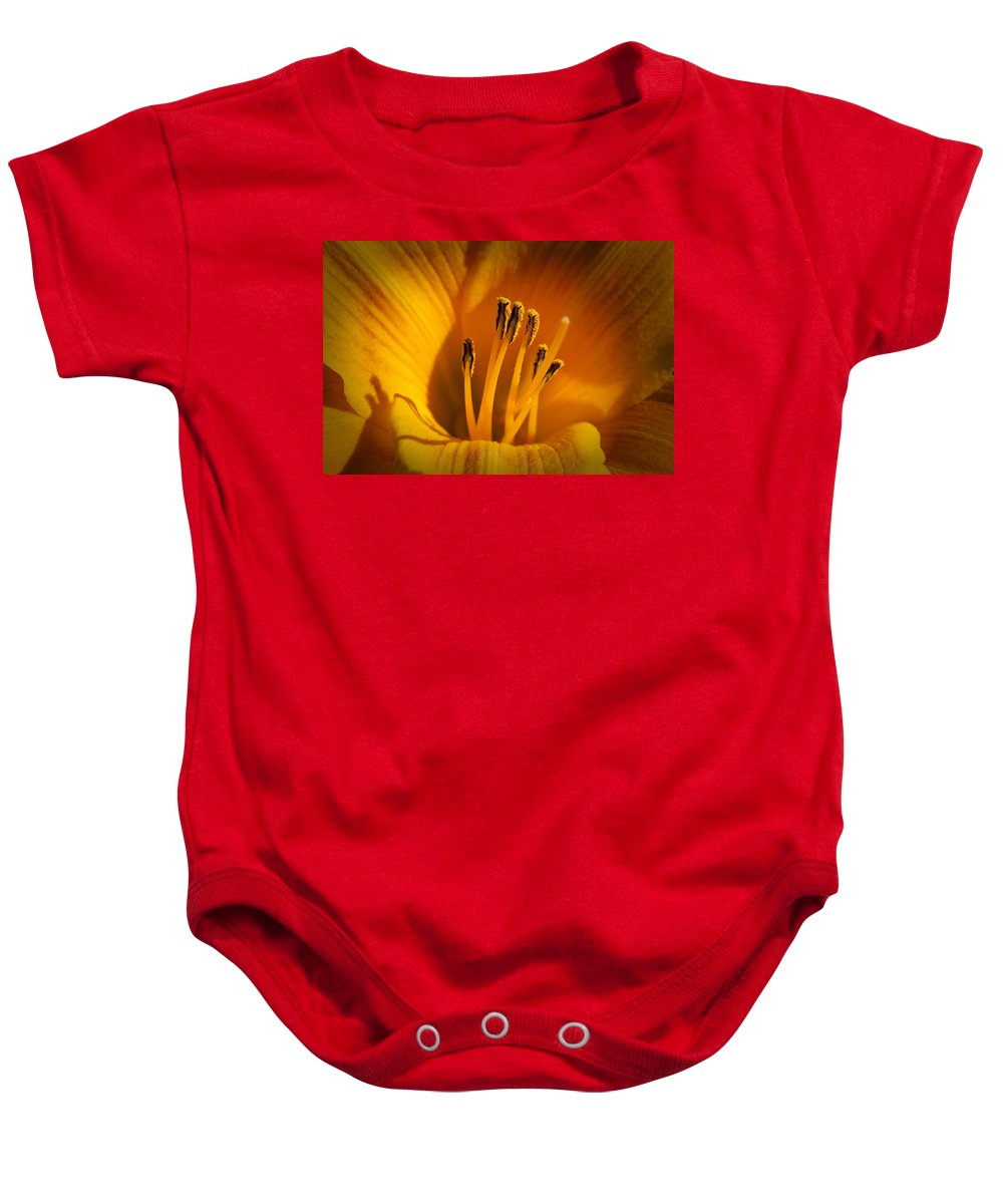 Flowers Baby Onesie featuring the photograph Stamens by Kelley King