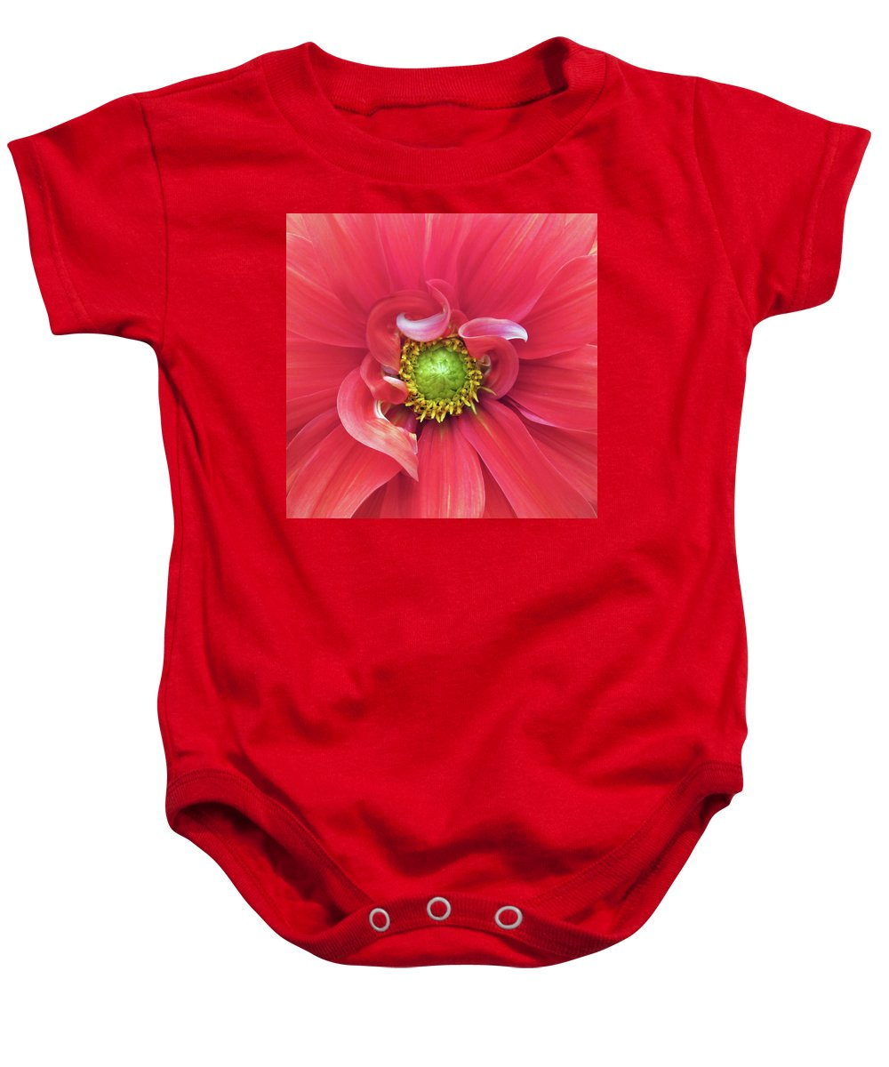 Photograph Of Dahlia Baby Onesie featuring the photograph The Dahlia by Gwyn Newcombe