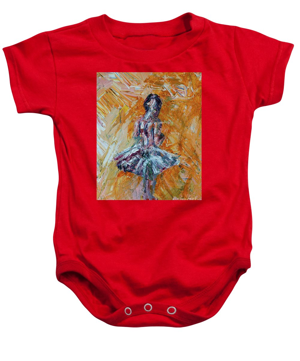 Dance Baby Onesie featuring the painting The Dancer by Robert Yaeger