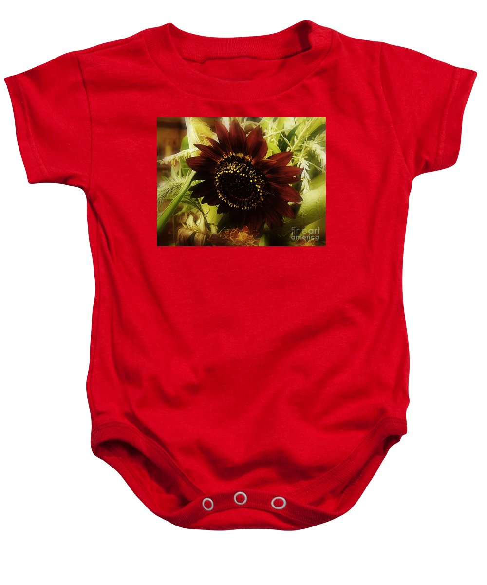 Sunflower Baby Onesie featuring the photograph The Softness Of Autumn by RC DeWinter