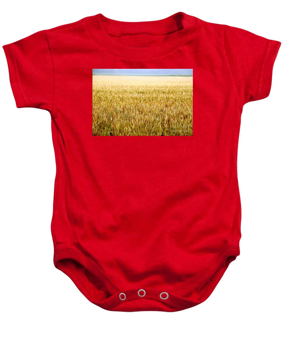 Field In France Chambon Baby Onesie featuring the photograph Travel Photography - France by Jenny Potter