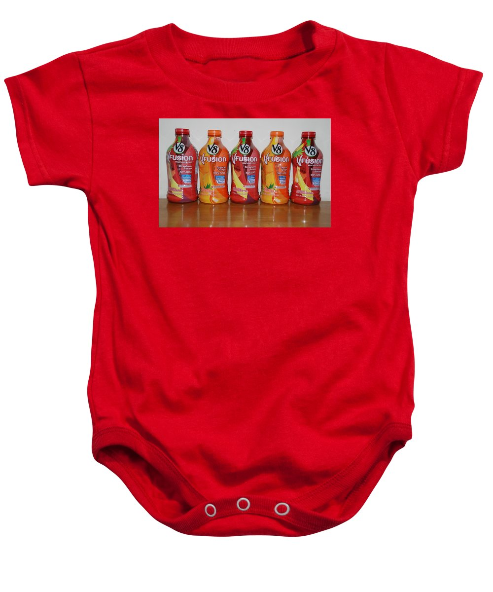 V8 Baby Onesie featuring the photograph V8 Fusion by Rob Hans