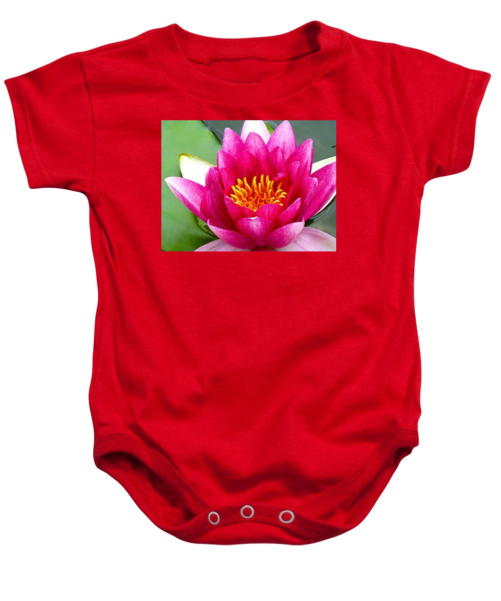 Water Lily Baby Onesie featuring the photograph Water Lily by Barbara Zahno