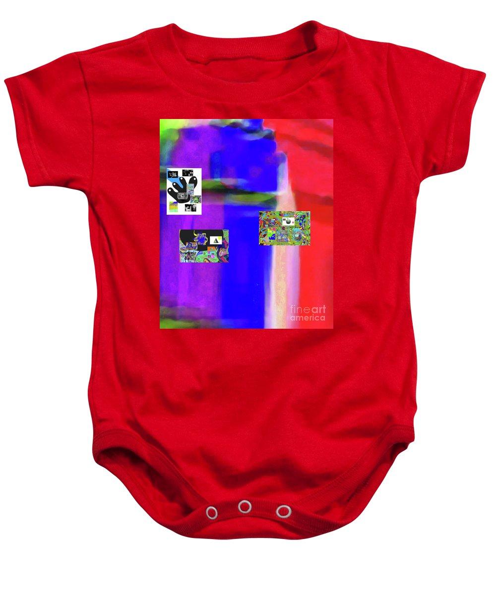 Walter Paul Bebirian Baby Onesie featuring the digital art 11-20-2015dabcdefghi by Walter Paul Bebirian