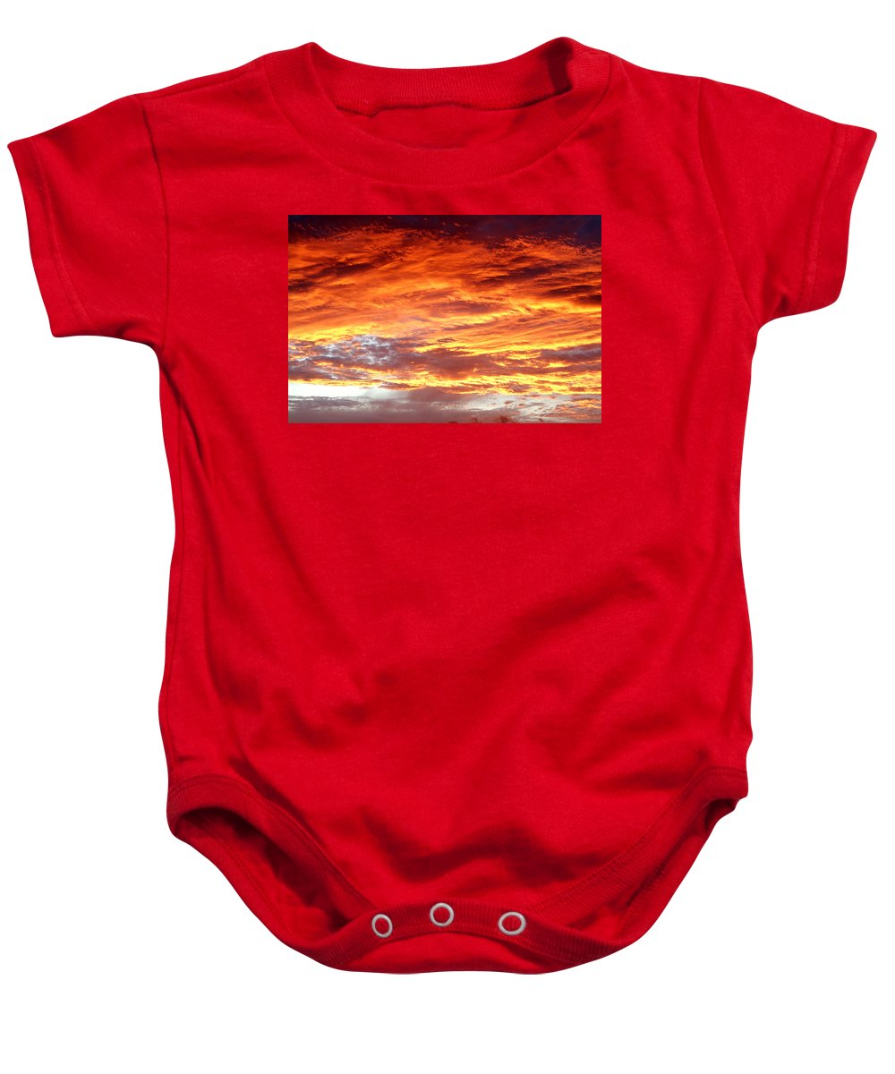 Beautiful Baby Onesie featuring the photograph Summer Sky by Les Cunliffe
