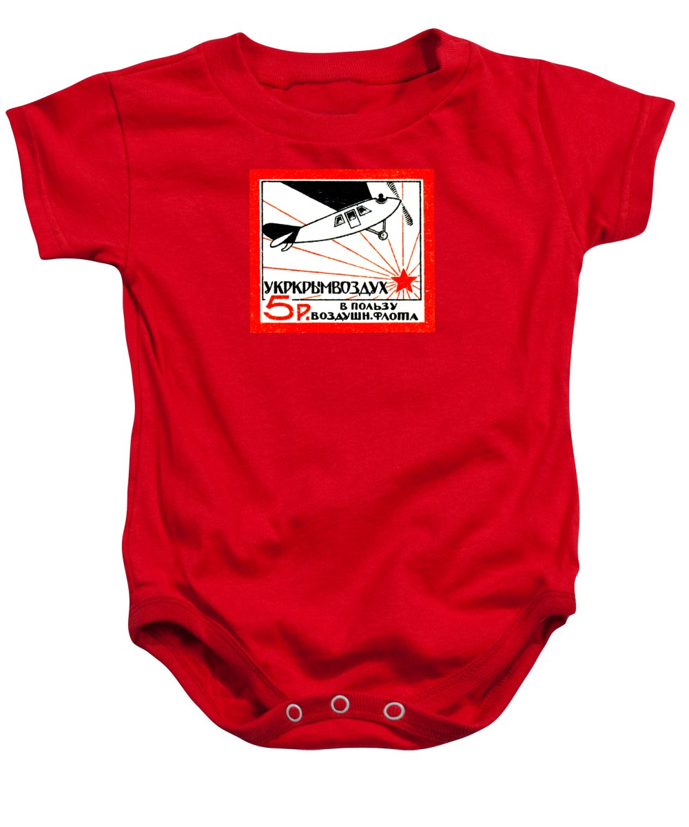 Vintage Baby Onesie featuring the painting 1923 Soviet Russian Air Fleet by Historic Image