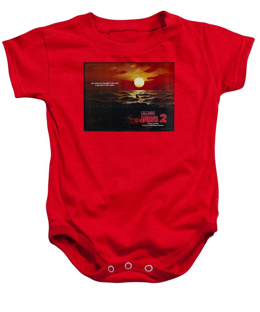 Jaws 2 1978 Baby Onesie featuring the digital art Jaws 2 1978 by Geek N Rock