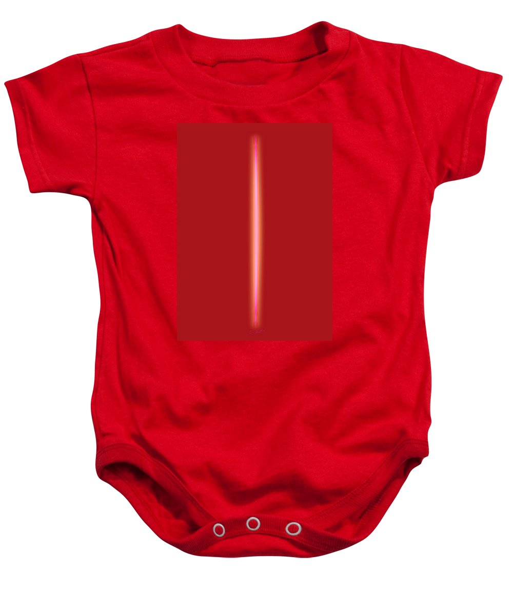 Slit Baby Onesie featuring the painting Some Like It Hot by Charles Stuart