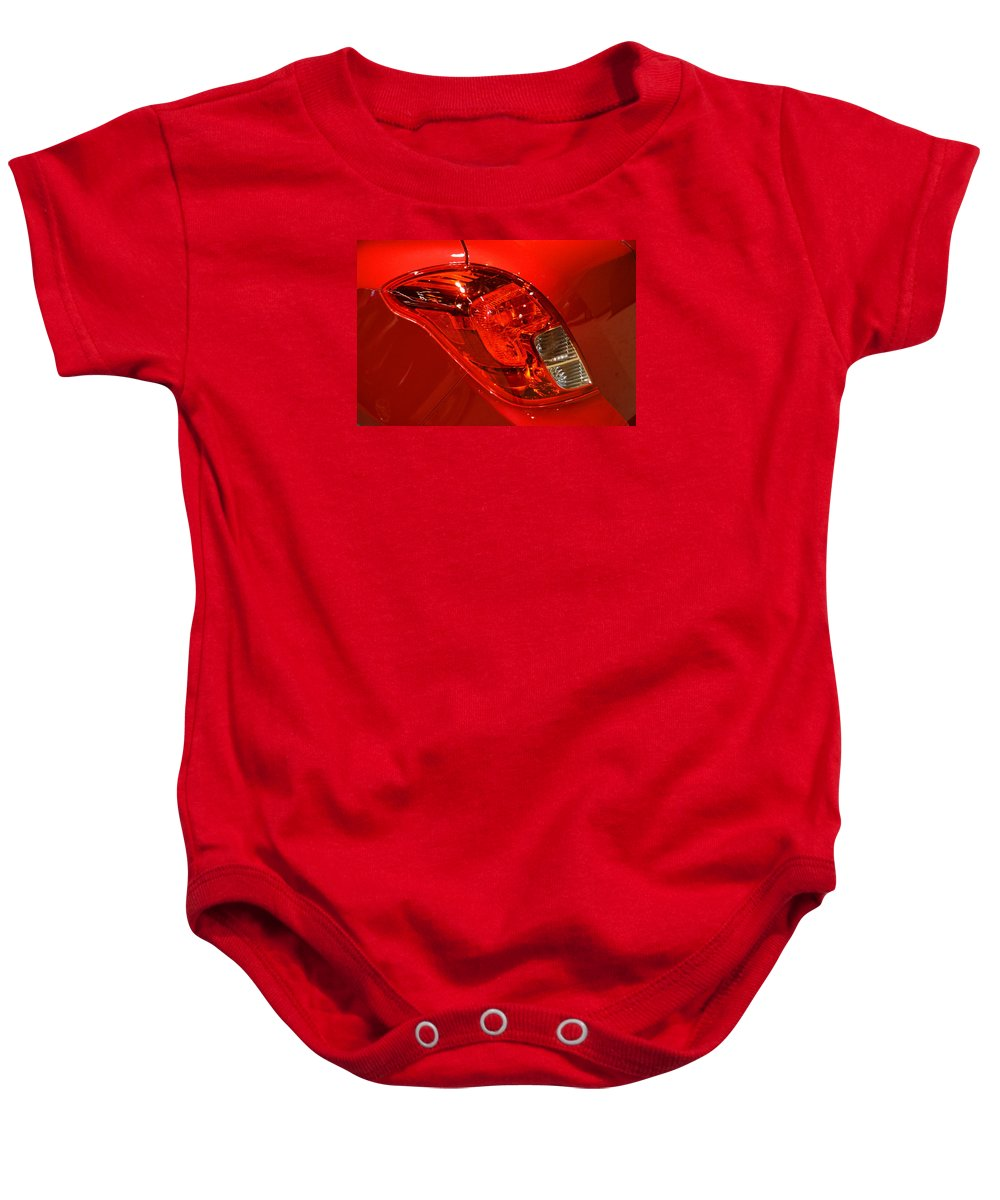 2015 Baby Onesie featuring the photograph 2015 Buick Encore Tail Light by Mike Martin