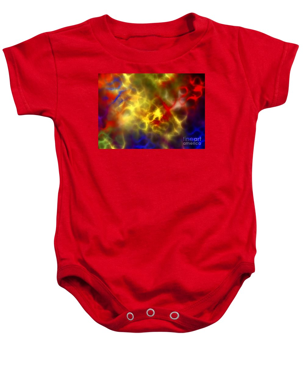 Concoction Baby Onesie featuring the digital art Abstract Composition by Michal Boubin