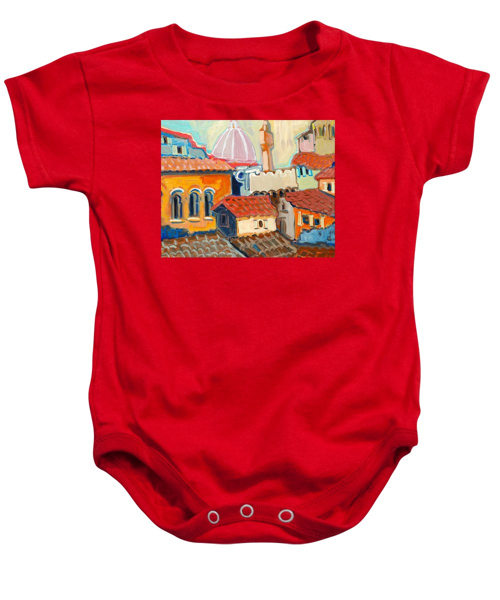 Italy Baby Onesie featuring the painting Florence by Kurt Hausmann