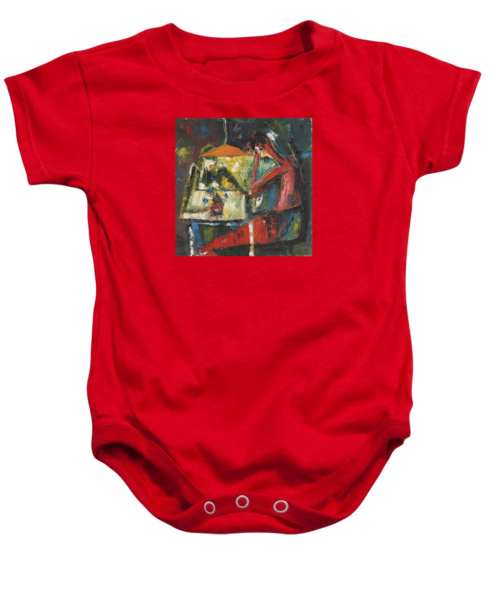 Dimitar Baby Onesie featuring the painting 32 by Dimitar Manolov
