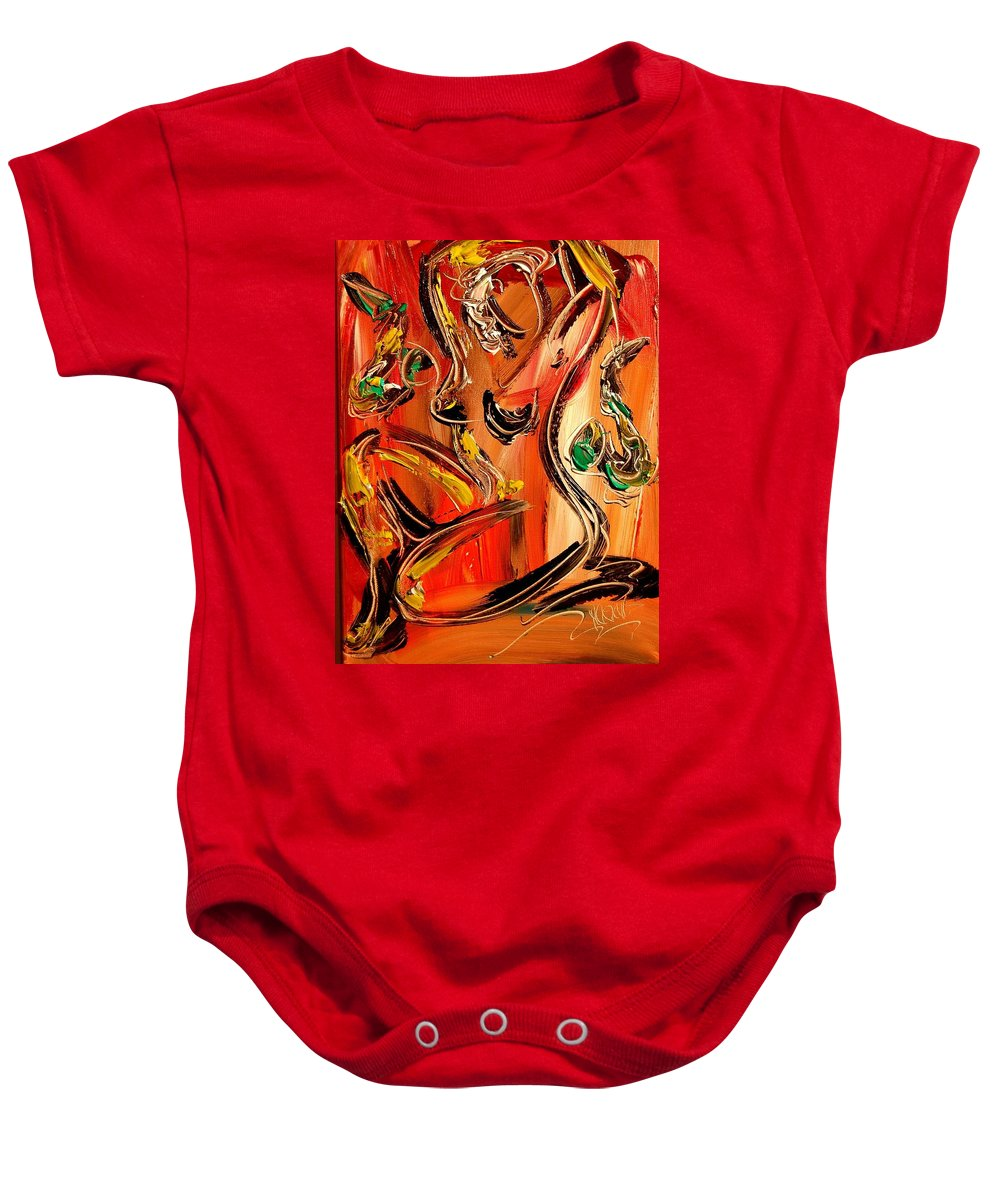 Landscape Framed Prints Baby Onesie featuring the painting Nude by Mark Kazav