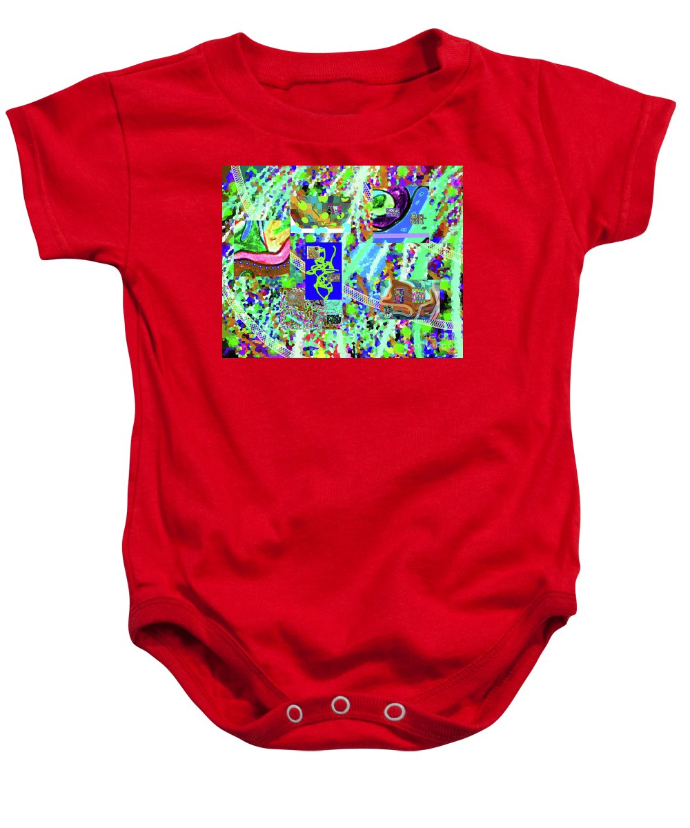 Walter Paul Bebirian Baby Onesie featuring the digital art 4-12-2015cabcdefghijklmnop by Walter Paul Bebirian